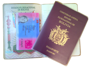 Lost BRP Card - Secure Holder Bolivian Passport Delphine-D