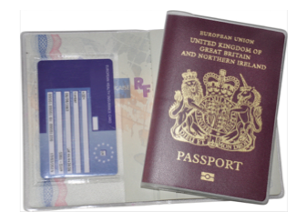 Lost BRP Card - Secure Holder British Passport Delphine-D