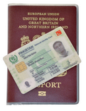 Lost BRP Card - Secure Holder British Pakistani Overseas Card Delphine-D